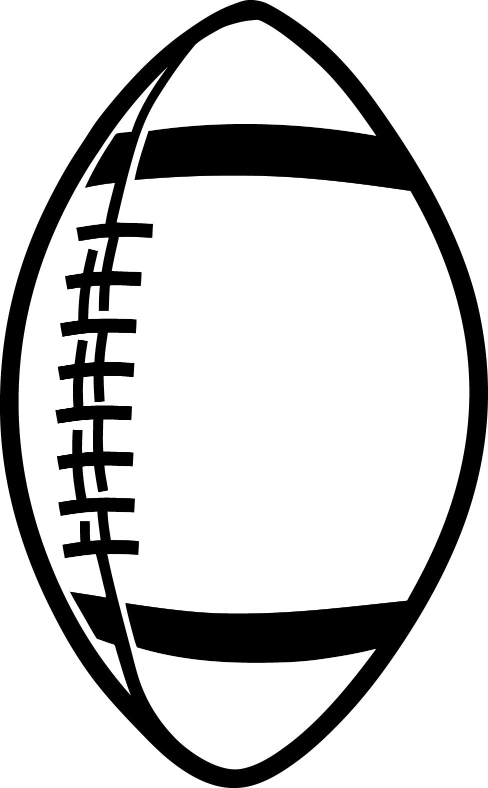 Football Clipart Black And White-football clipart black and white-1