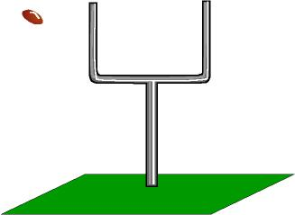 football field goal kick