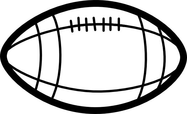 Football Clip Art Black And White Clipart Panda Free Clipart