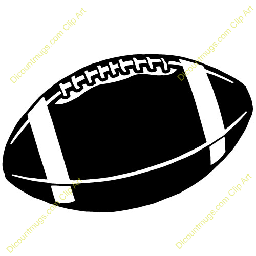 Football Clipart Black And Wh