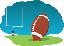 Football And Goal Post Clipart. Size: 86-Football and goal post clipart. Size: 86 Kb-6