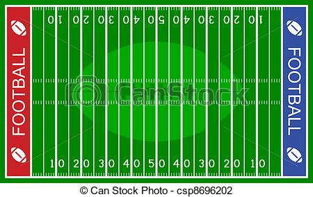 Football Field Clipart And Stock Illustrations Football