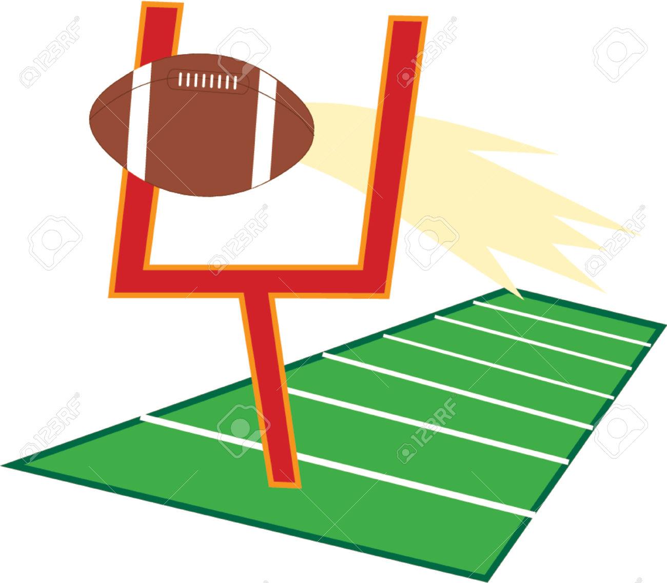 Football Goal Clip Art. A Goalpost On A -Football Goal Clip Art. a goalpost on a football .-12