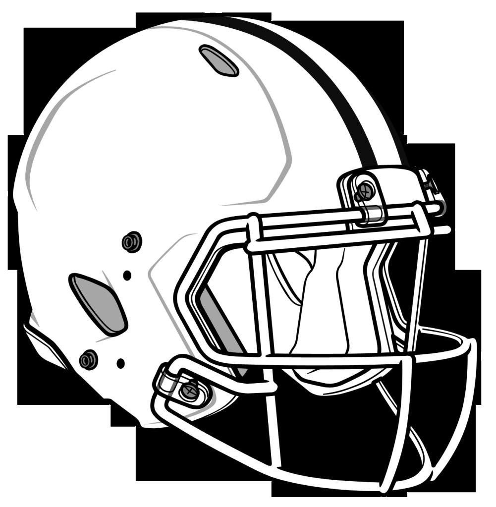 Football helmet clip art image