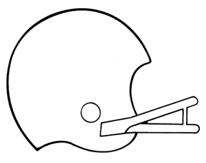Football helmet free sports .