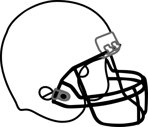 Football Helmet Outline Clipart-Football helmet outline clipart-14