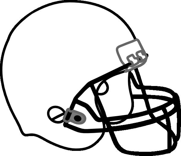 Football helmet outline clipart