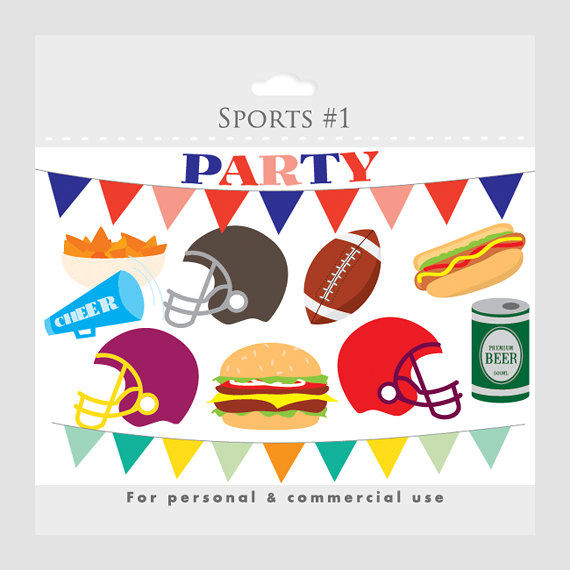 Football Party Clipart .-Football Party Clipart .-6