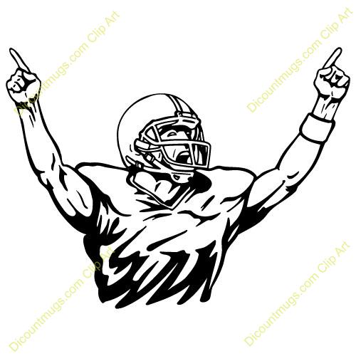 Football Player Clip Art - Football Player Clipart