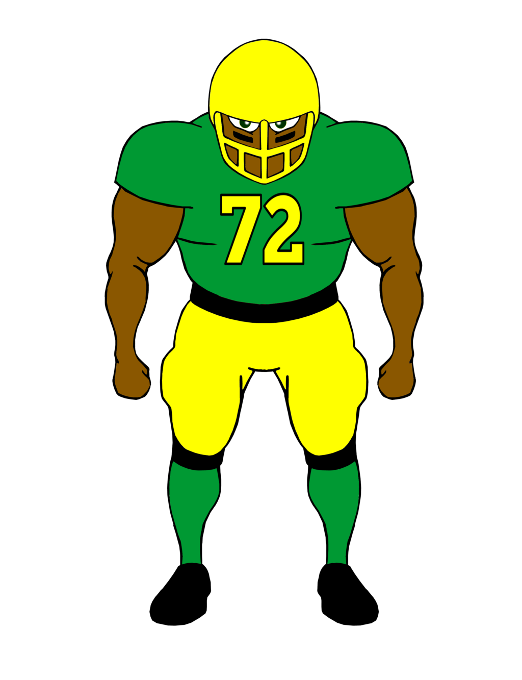 Football player clip art free clipart images image 2