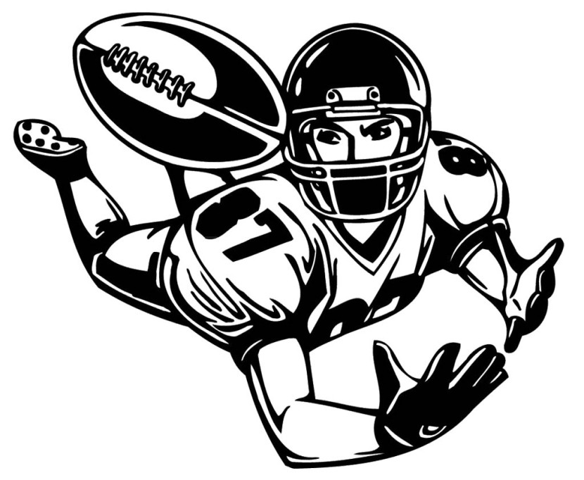 Football player clipart 2