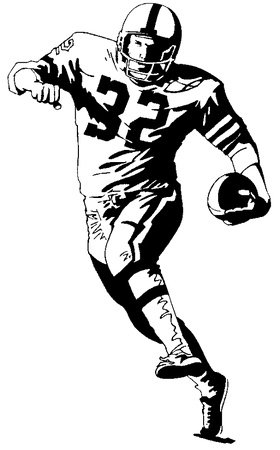 Football player clipart 3