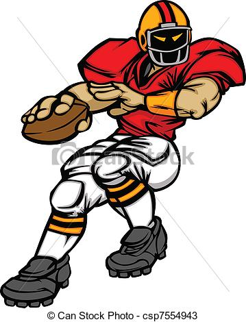 ... Football Player Quarterback Vector - Cartoon Vector.