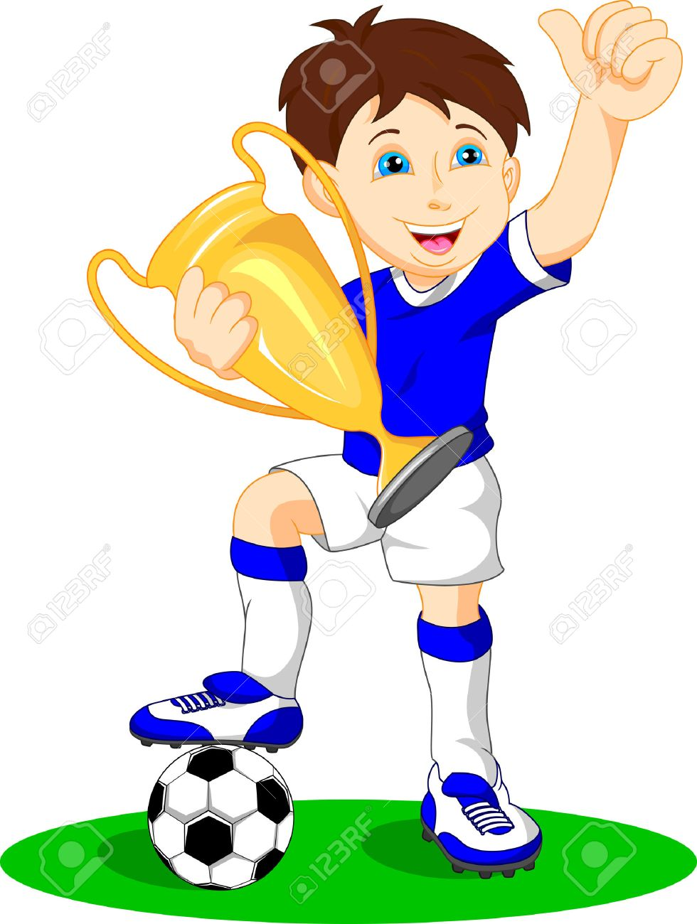 footballer clipart 4