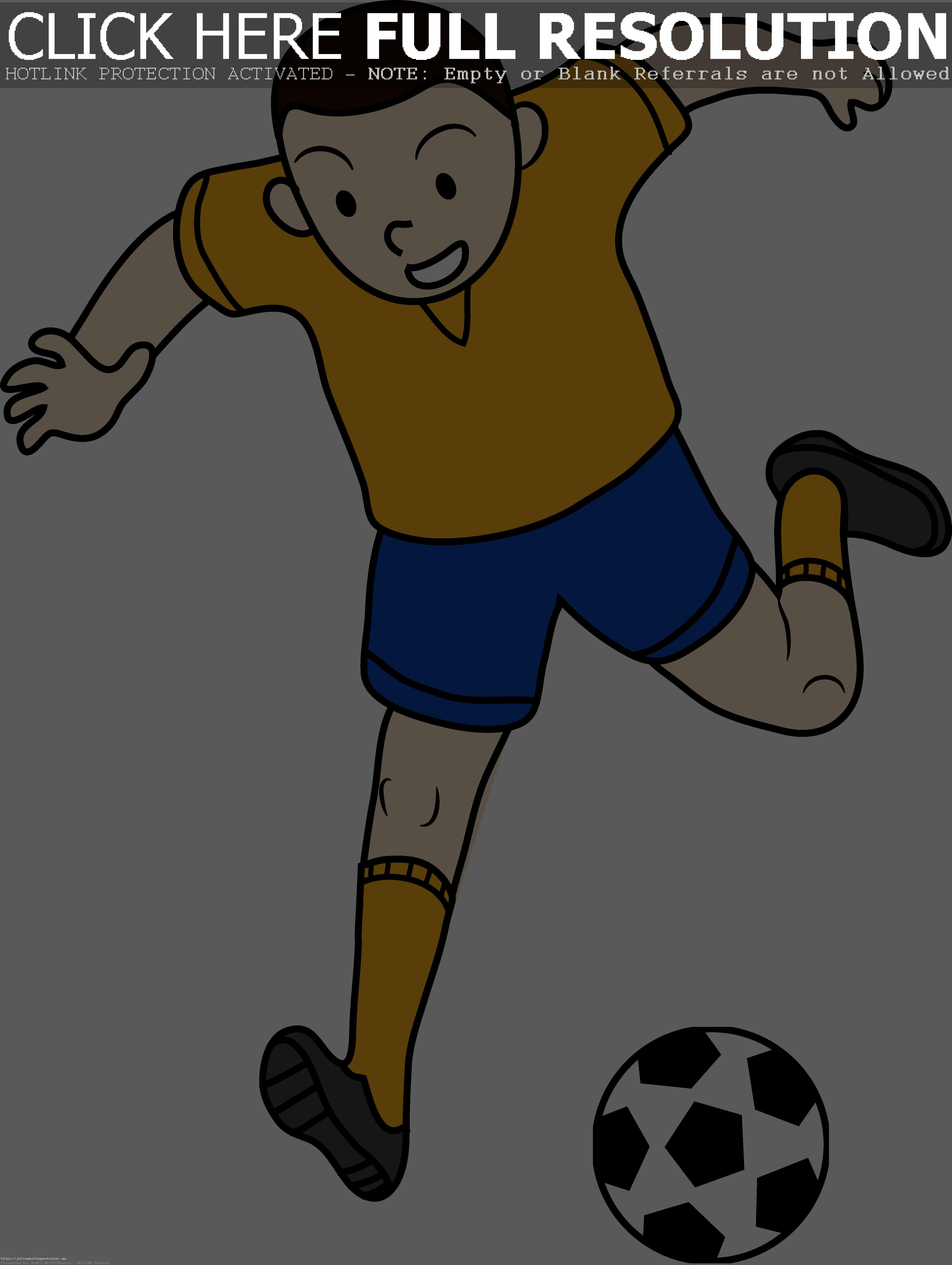 Kid Playing Soccer Or Football Free Clip-Kid Playing Soccer Or Football Free Clip Art Brilliant Png-13
