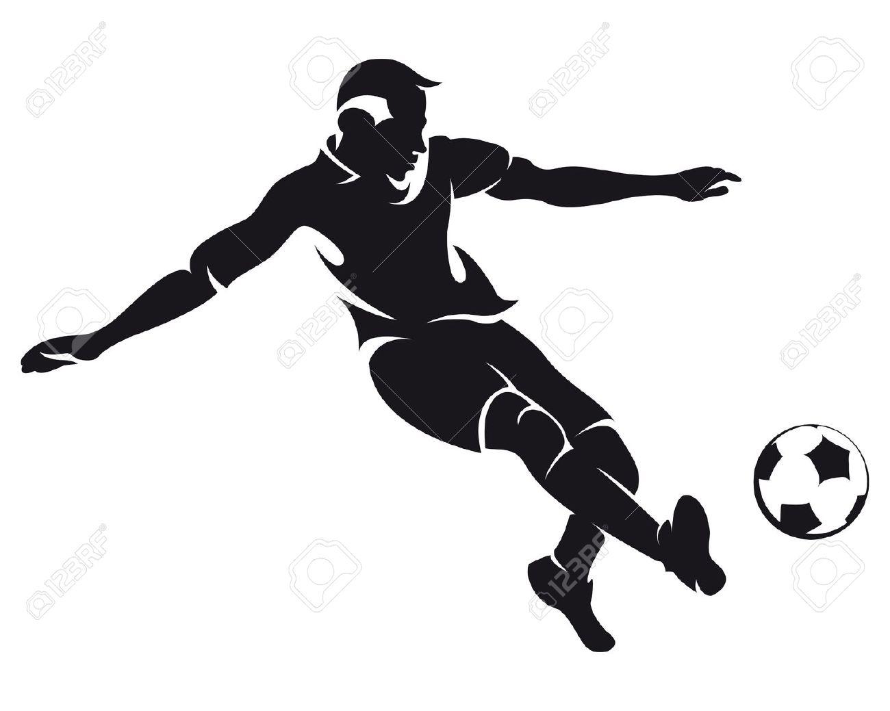 footballer: vector football .