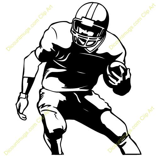 Footballplayer Clip Art - Football Player Clipart