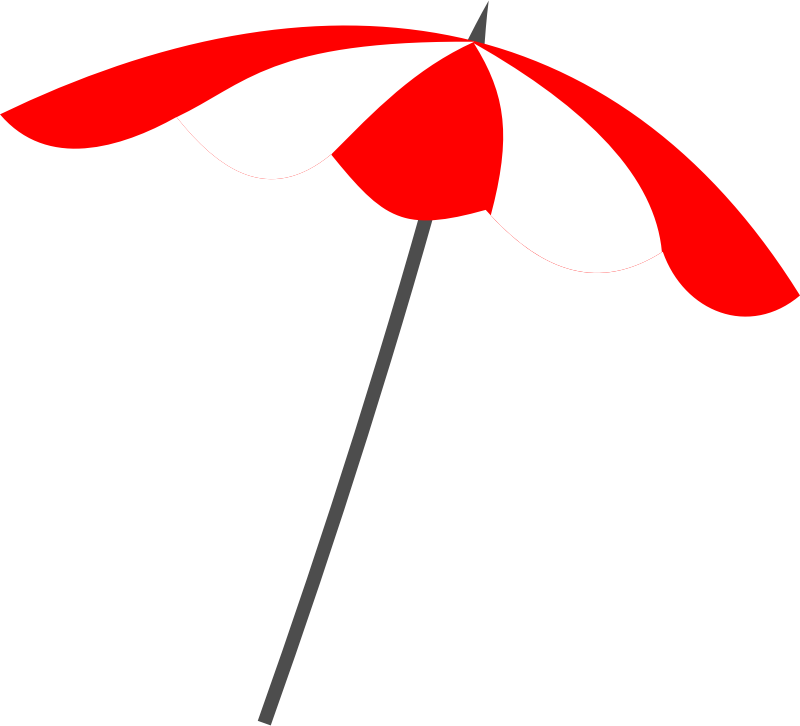 For A Beach Umbrella Clip Art You Can Use This Simple Beach Umbrella
