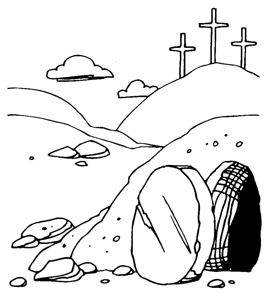 For Empty Tomb Clip Art. Blue - Empty Tomb Clip Art