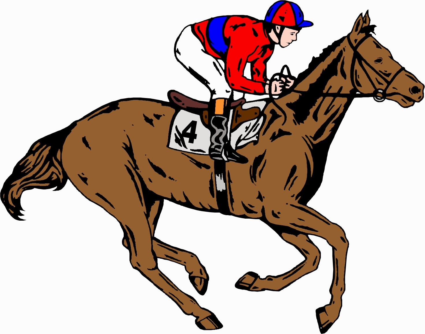 For u0026gt; Horse Racing Clipart