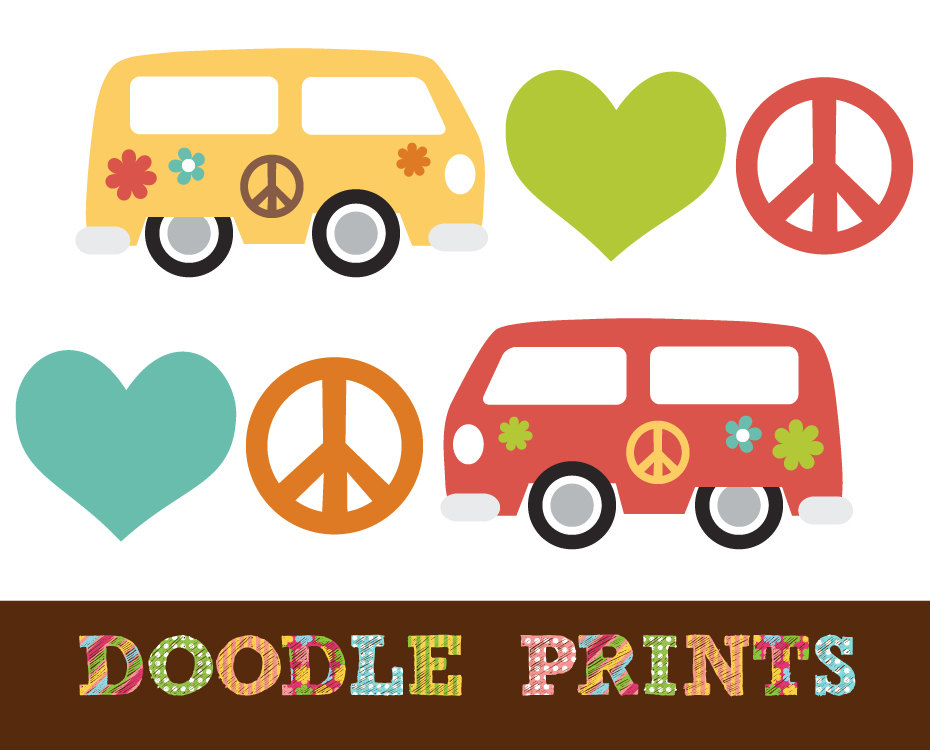 For Hippie Clipart On Etsy .