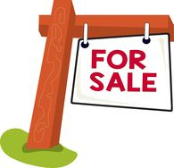 for sale sign post clipart. Size: 40 Kb