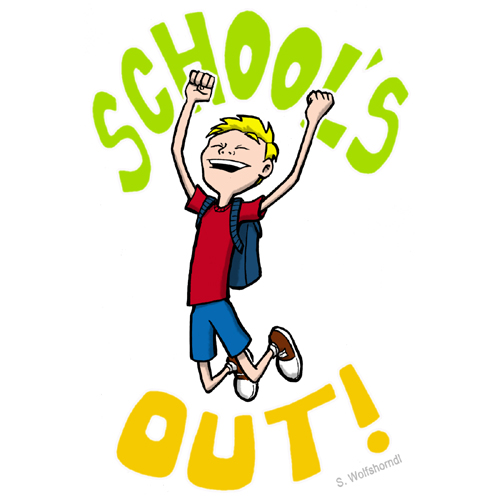 For third; Schools Out Clipart ...
