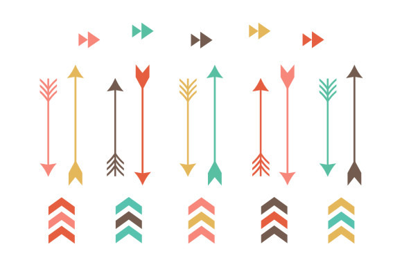 for tribal arrows clip art