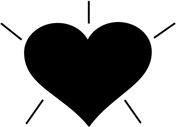 For u0026gt; Black Heart Clipart. PNG: small · medium · large