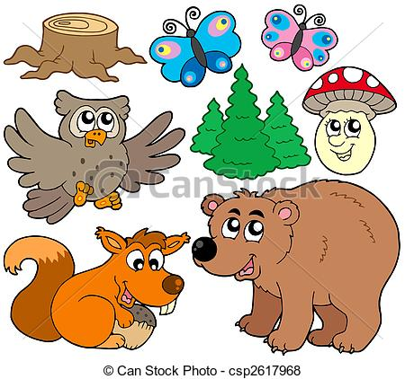 ... Forest Animals Collection 3 - Isolat-... Forest animals collection 3 - isolated illustration.-11
