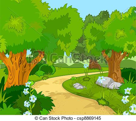 ... Forest Landscape - A Green Forest La-... Forest Landscape - A Green Forest Landscape with Trees and.-8