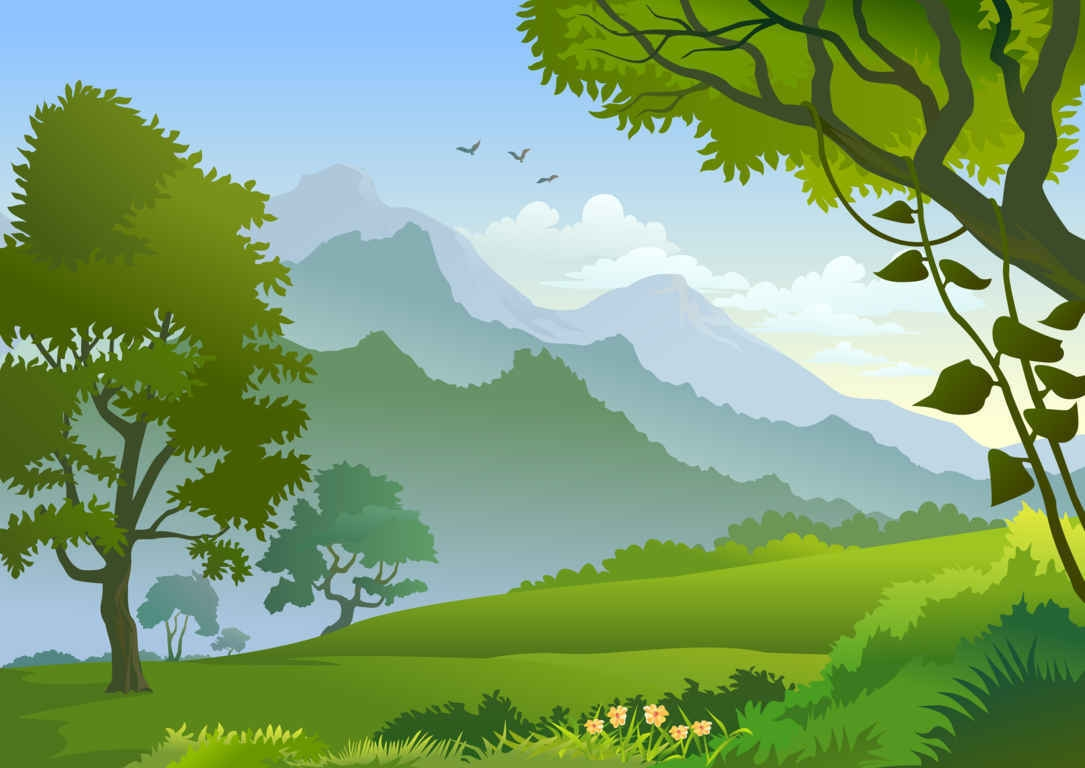 Forest Landscape Clipart