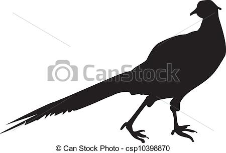 Forest Pheasant Clipartby Derocz7/1,857;-Forest pheasant Clipartby derocz7/1,857; Pheasant Sillhouette - A silhouette of a pheasant, a bird.-4