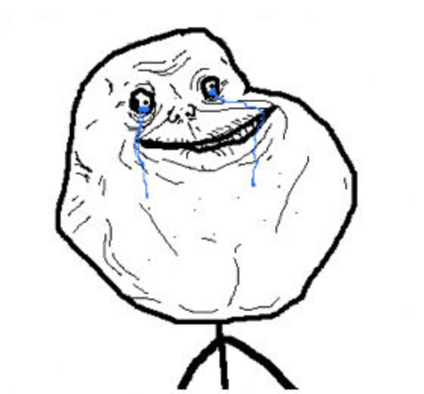 Download this image as: - Forever Alone Clipart