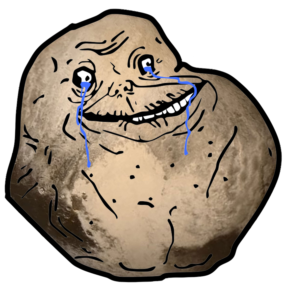 Forever Alone Pluto - Forever Alone Clipart