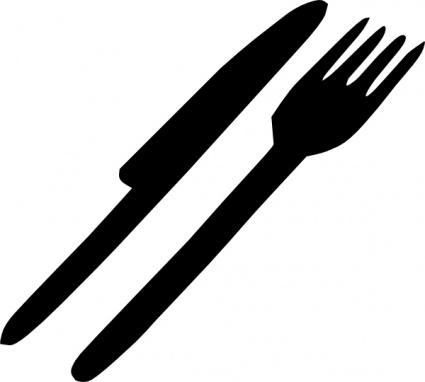 Fork Knife Silverware Clip Art Vector Do-Fork Knife Silverware clip art Vector Download - Objects Vectors-3