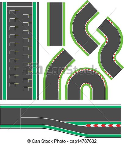... Formula race track line set elements