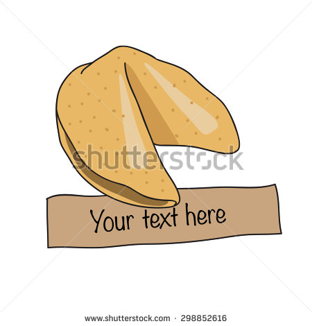 Fortune chinese cookie. Vector illustration.