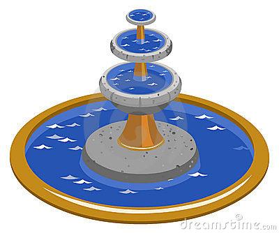 Fountain Isometric Stock Photo Image 10567830