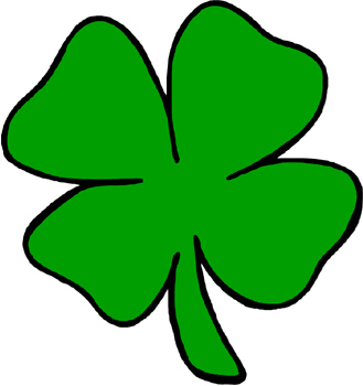 Four leaf clover and St. . - 4 Leaf Clover Clipart