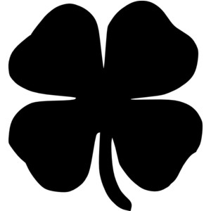 Four Leaf Clover Black .