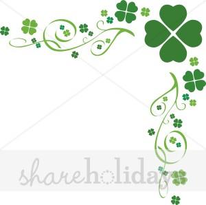 Four Leaf Clover Flourish Border