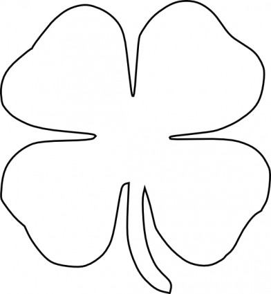 Four Leaf Clover Vector Clip Art Free Ve-Four Leaf Clover Vector Clip Art Free Vector In Open Office Drawing-13