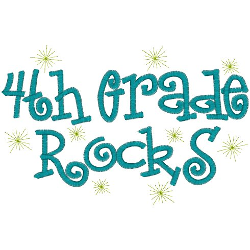Fourth Grade Rocks Clipart #1
