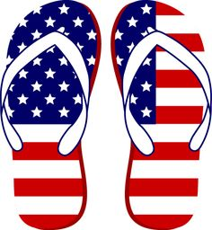 fourth of july clipart | Clip Art of a pair of American Flag