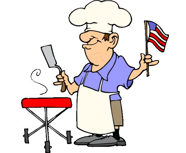 fourth of july clipart | Funny Patriotic Barbecue Guy free 4th of July clipart image,