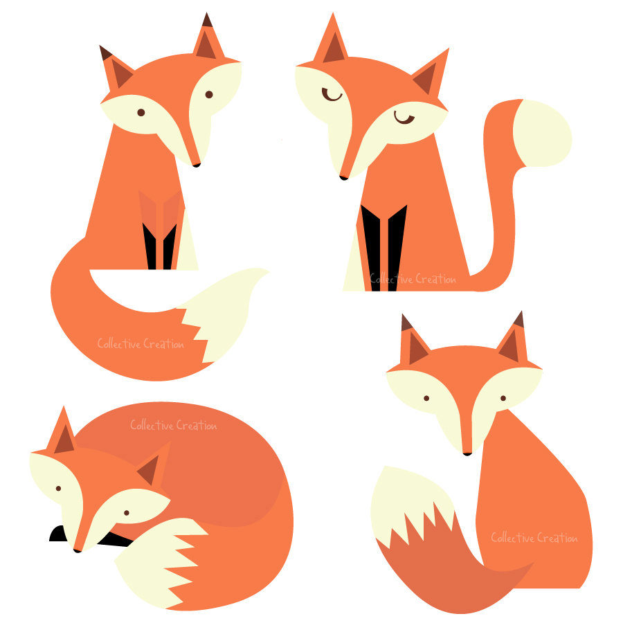 Fox Clip Art Black And White Clipart Panda Free Clipart Images