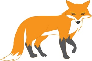 Fox clip art black and white free clipart images 2