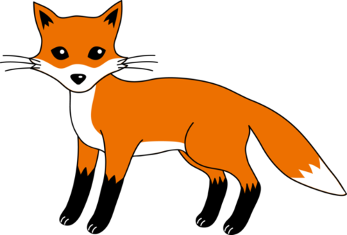 Fox clip art black and white free clipart images