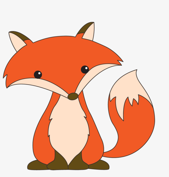 a little fox, Fox Clipart, Cartoon, Animal PNG Image and Clipart